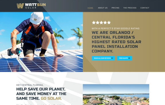 Wattsun WordPress website