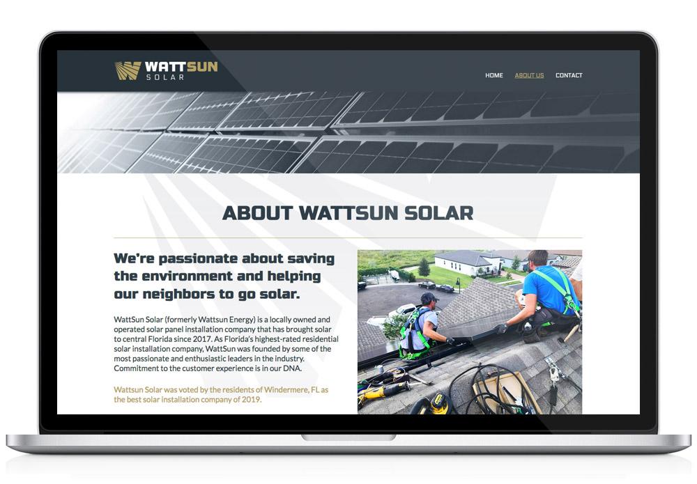 Wattsun interior website page template