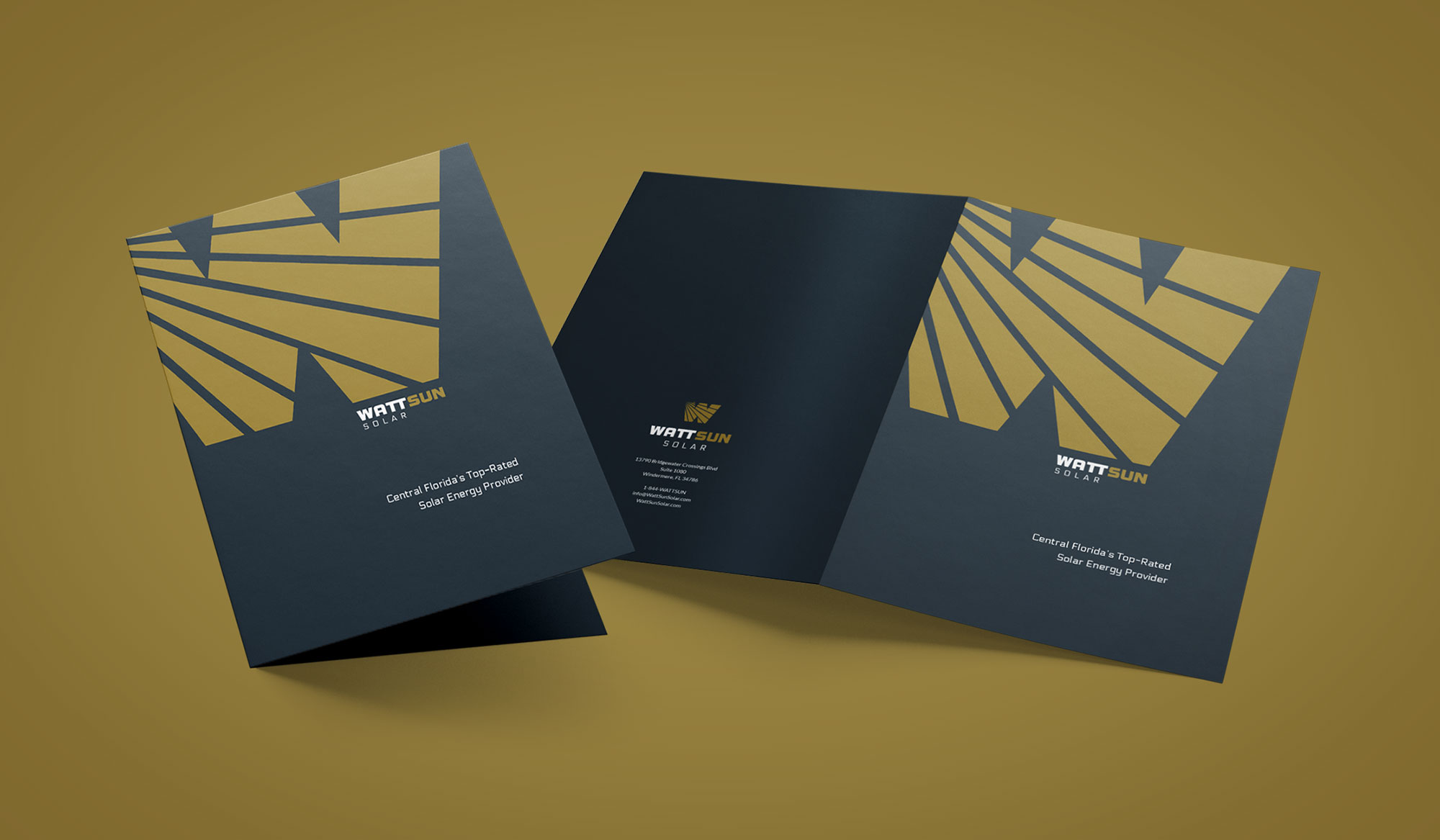 Wattsun corporate folder design