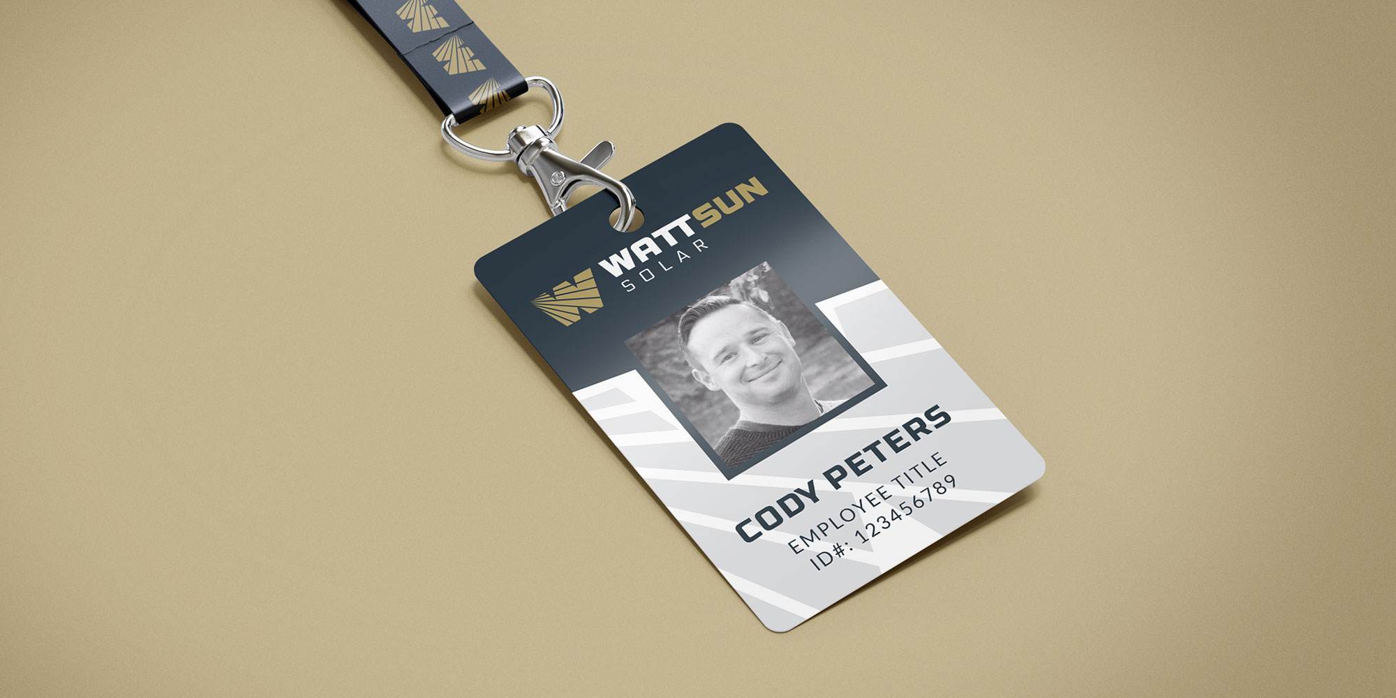 wattsun ID badge design