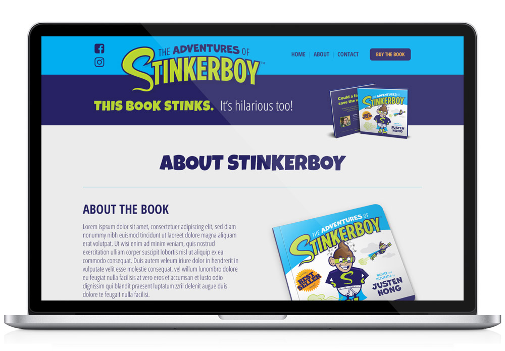 Stinkerboy template web page