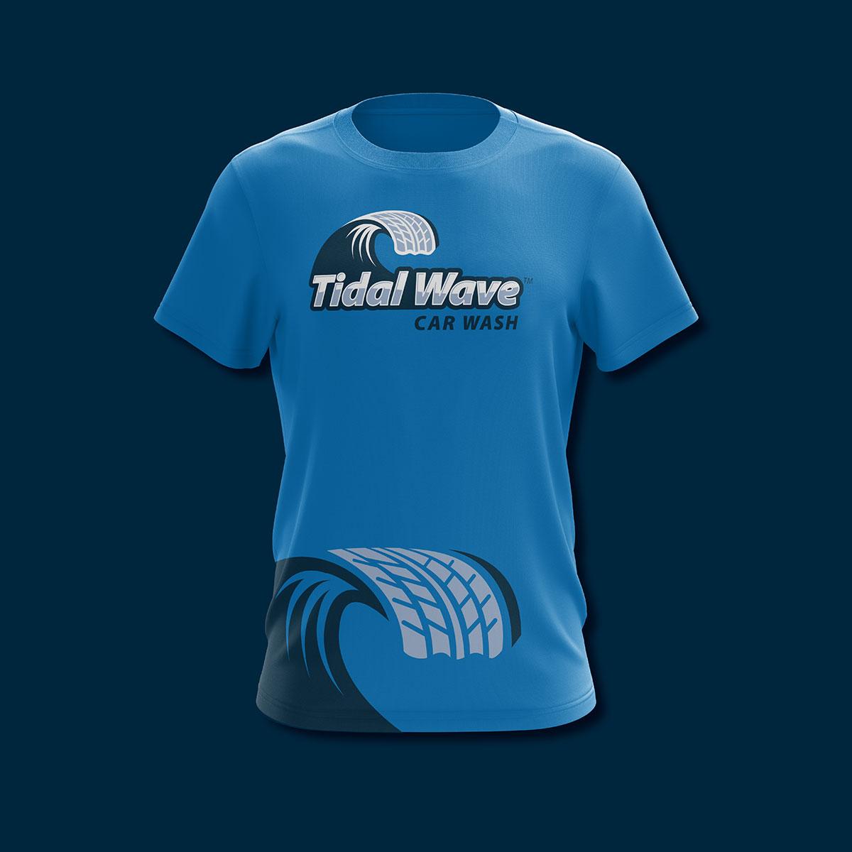 Tidal branding t-shirt design