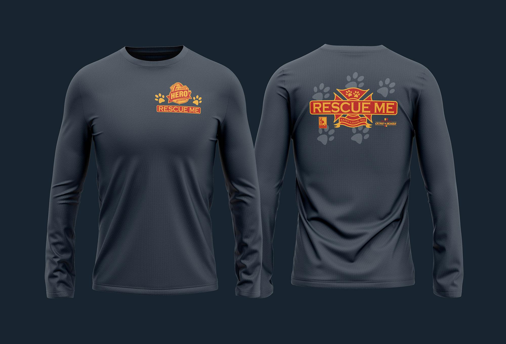 STL Hero Rescue Me shirt design