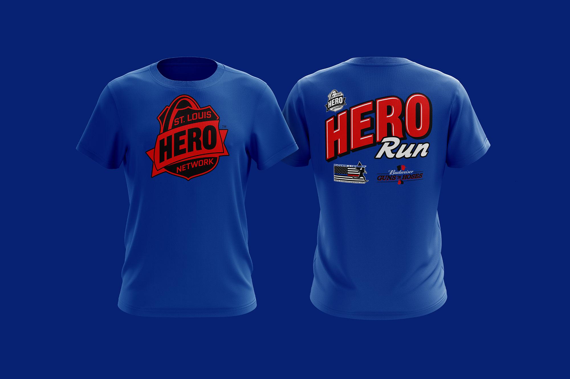 STL Hero Run shirt design
