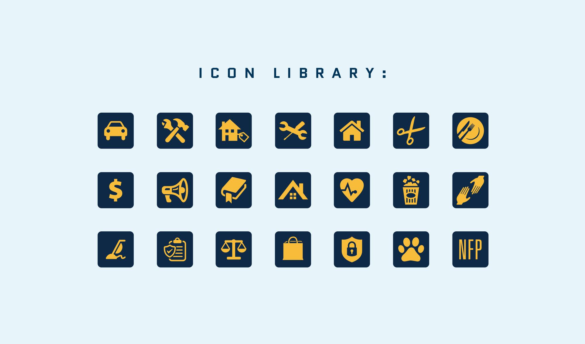 HERO Icon Library Designs