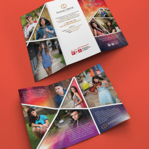 Daniel Ortiz Photography senior trifold brochure