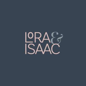 Lora & Isaac logo option
