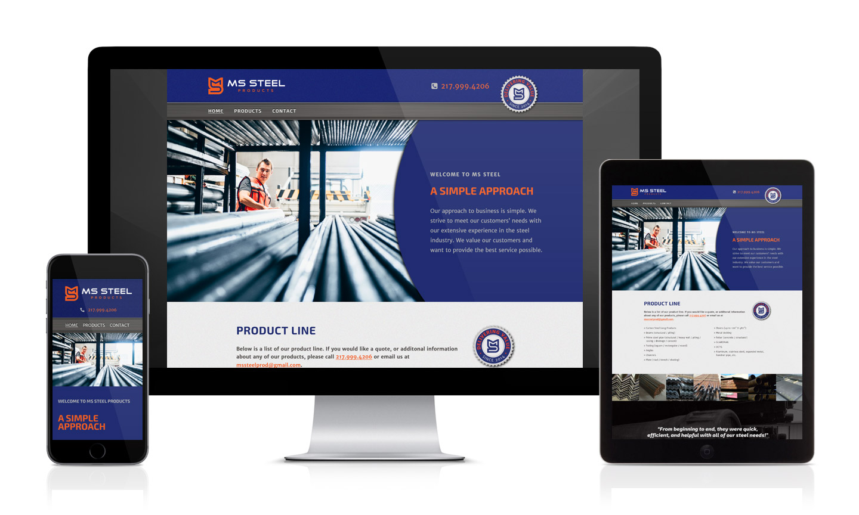 MS Steel Website