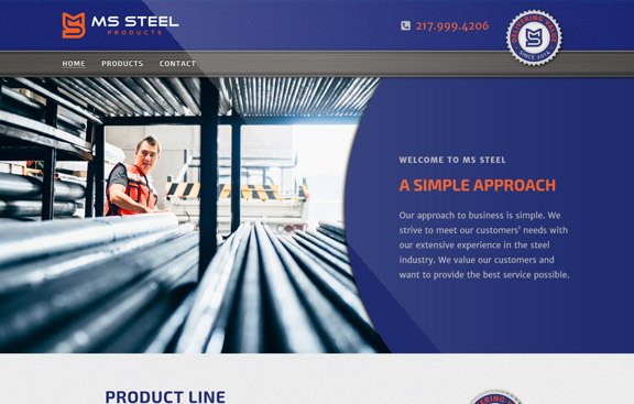 mssteel website homepage design