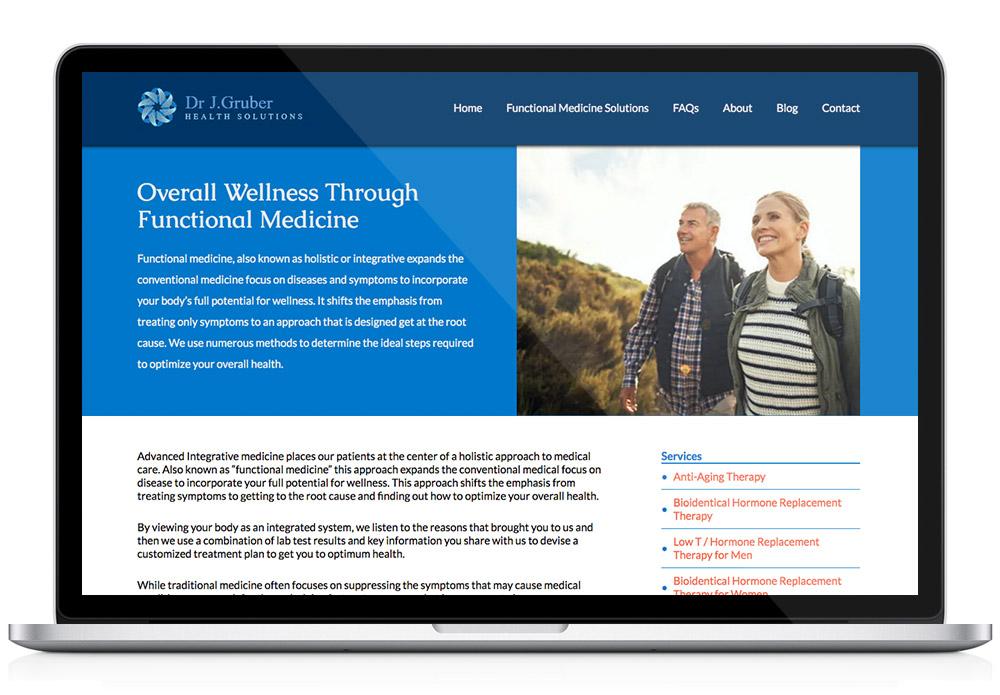 functional medicine WordPress website