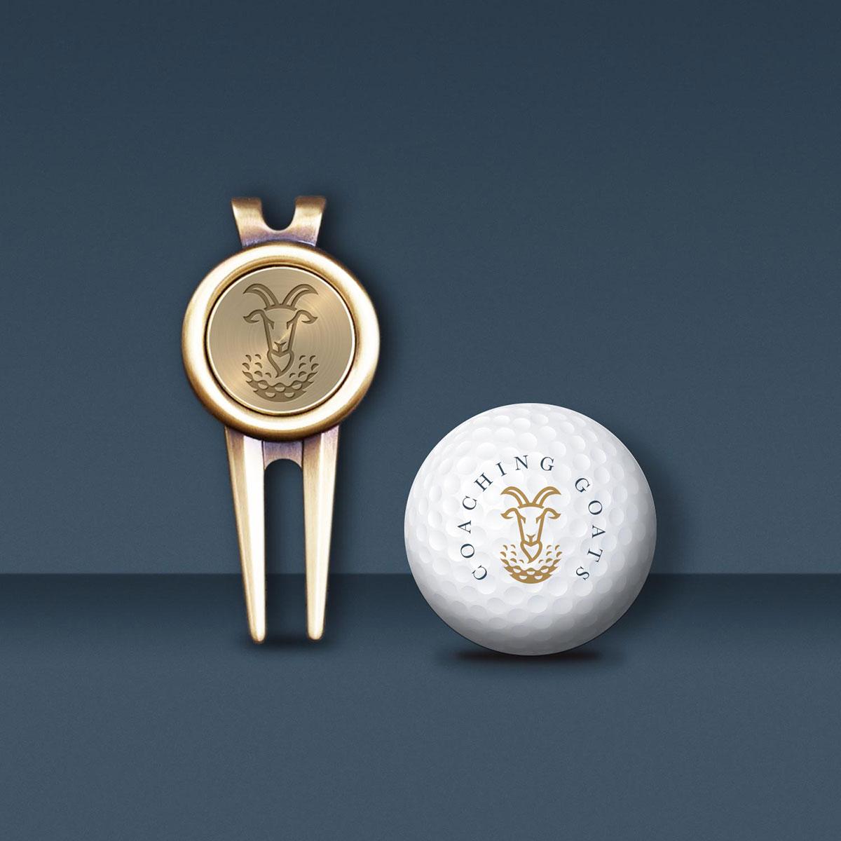 goat golf divot design