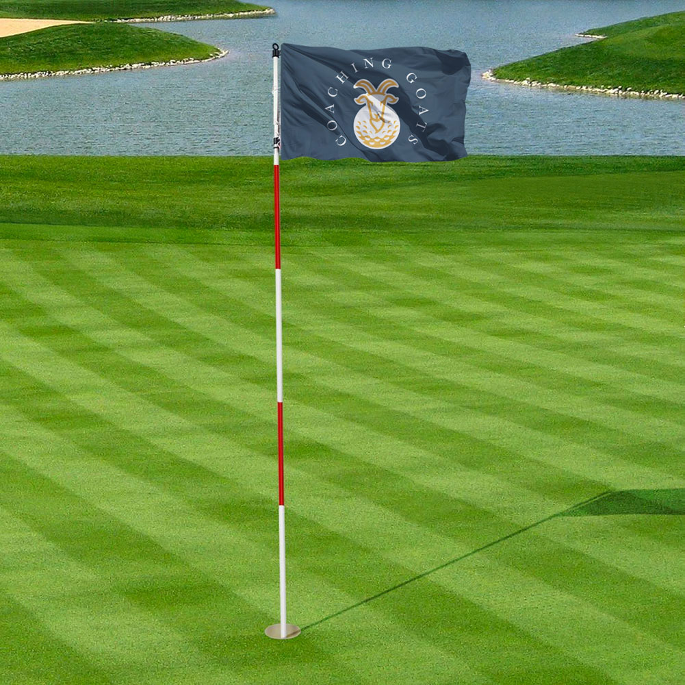 goat golf flag design