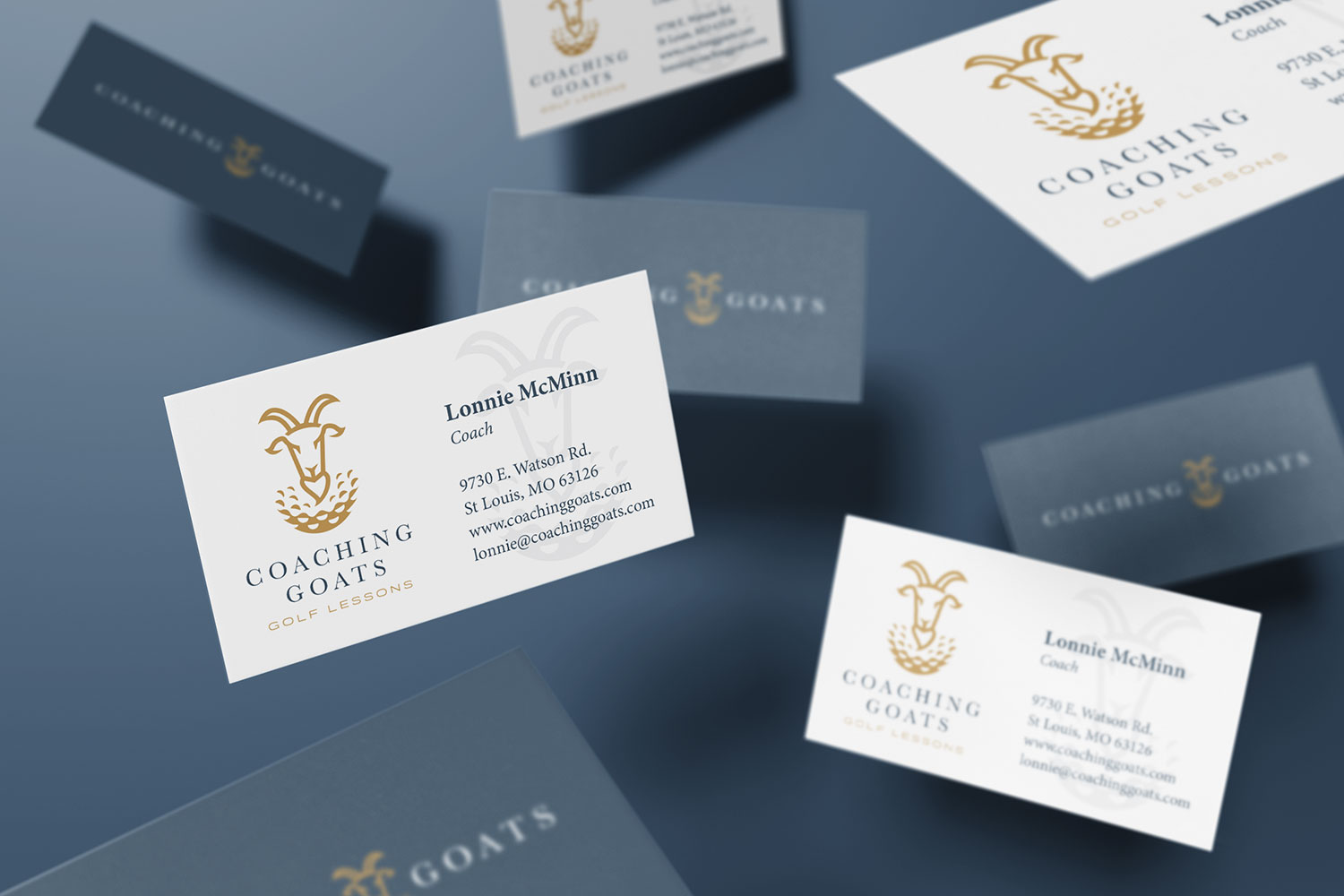 GOAT business card design 2