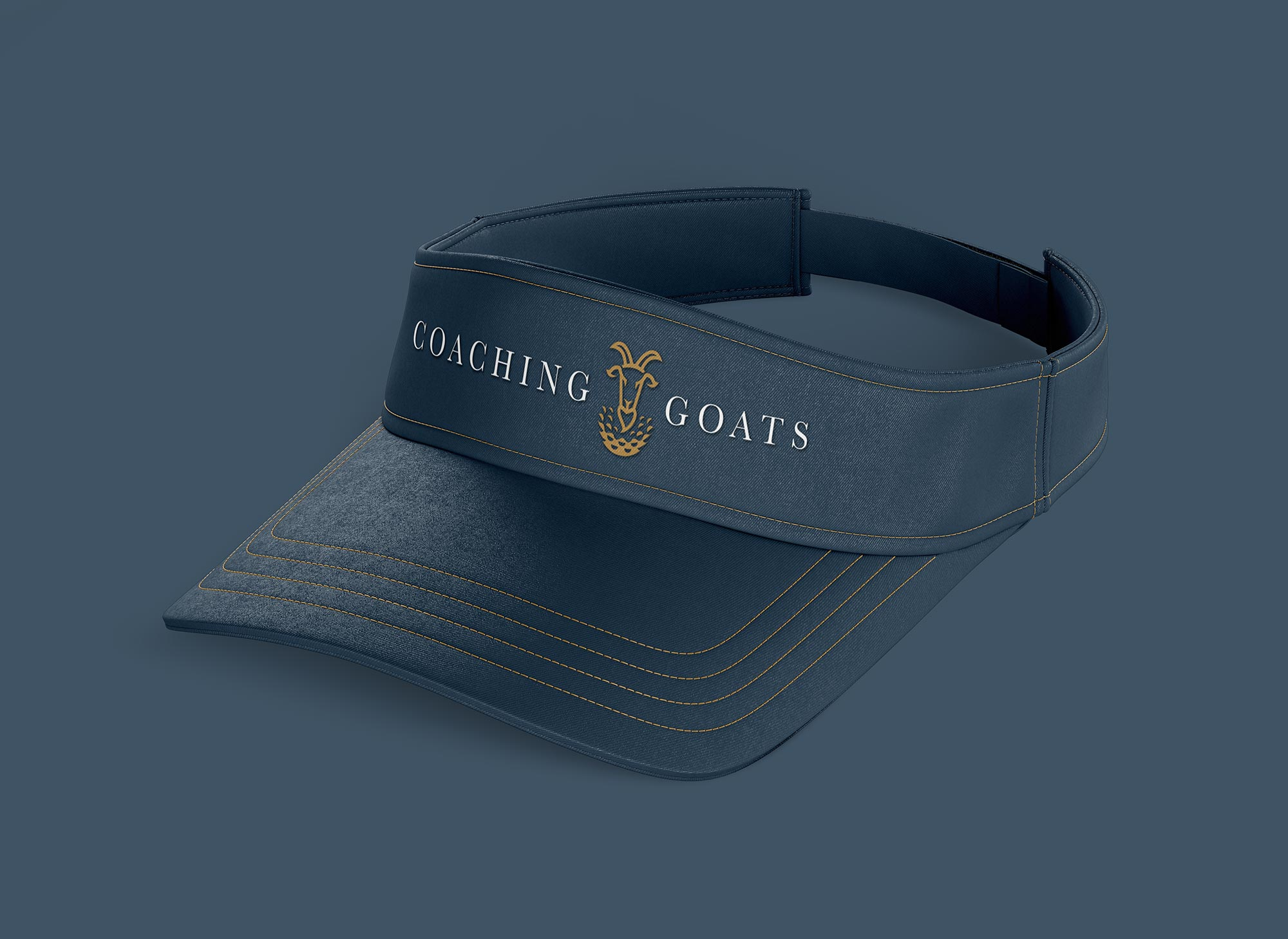 goats golf visor design