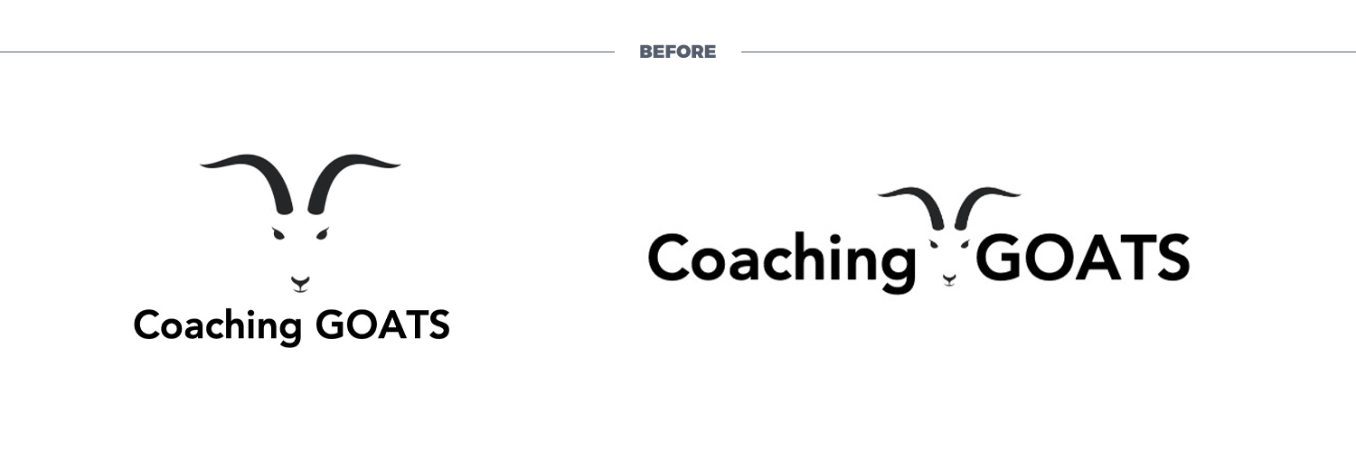 coaching goats logo before