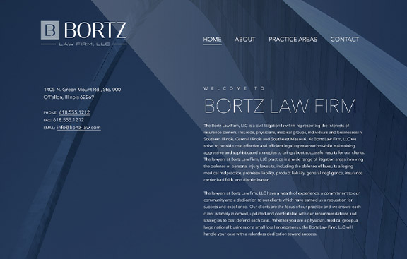 Bortz law FIrm website