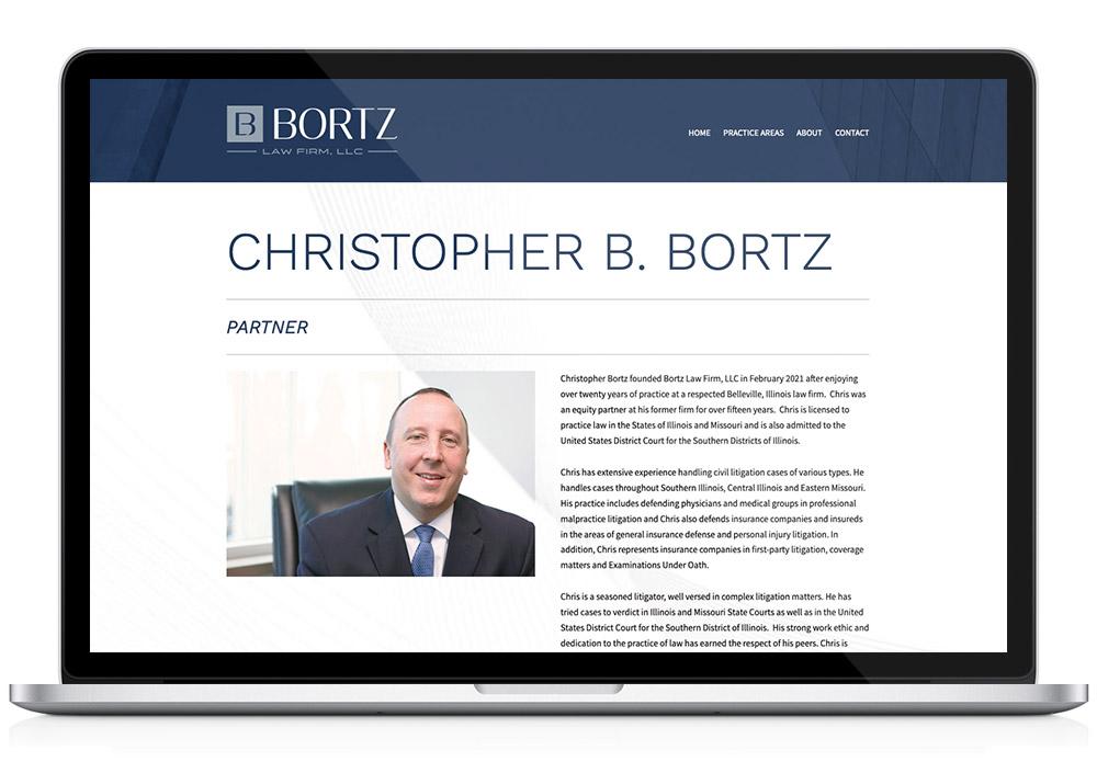 Bortz Law custom WordPress website design