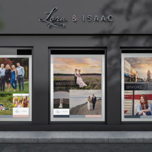 Lora & Isaac Window Banner Designs