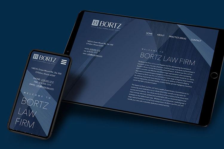 bortz law branding design