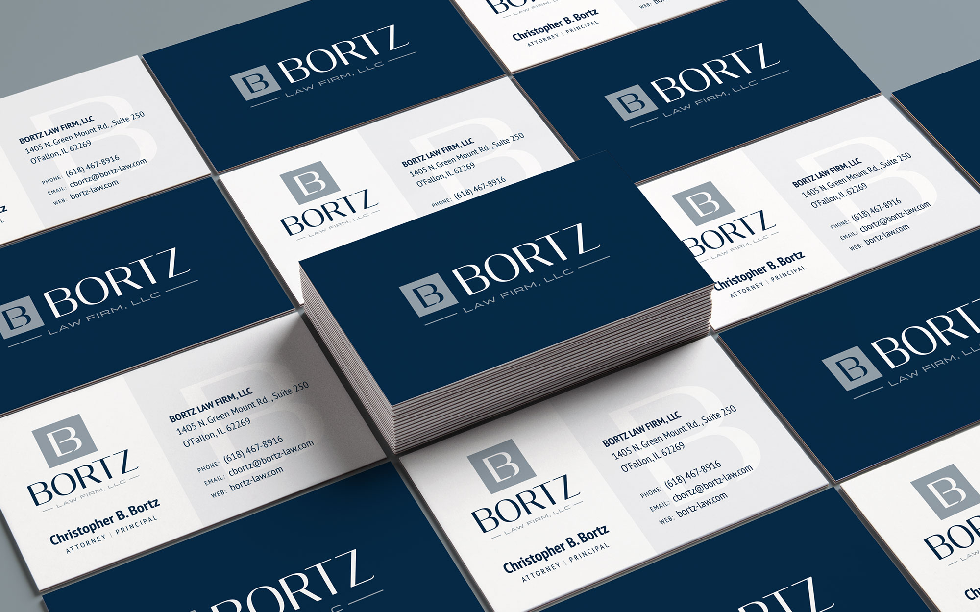bortz business card design 2