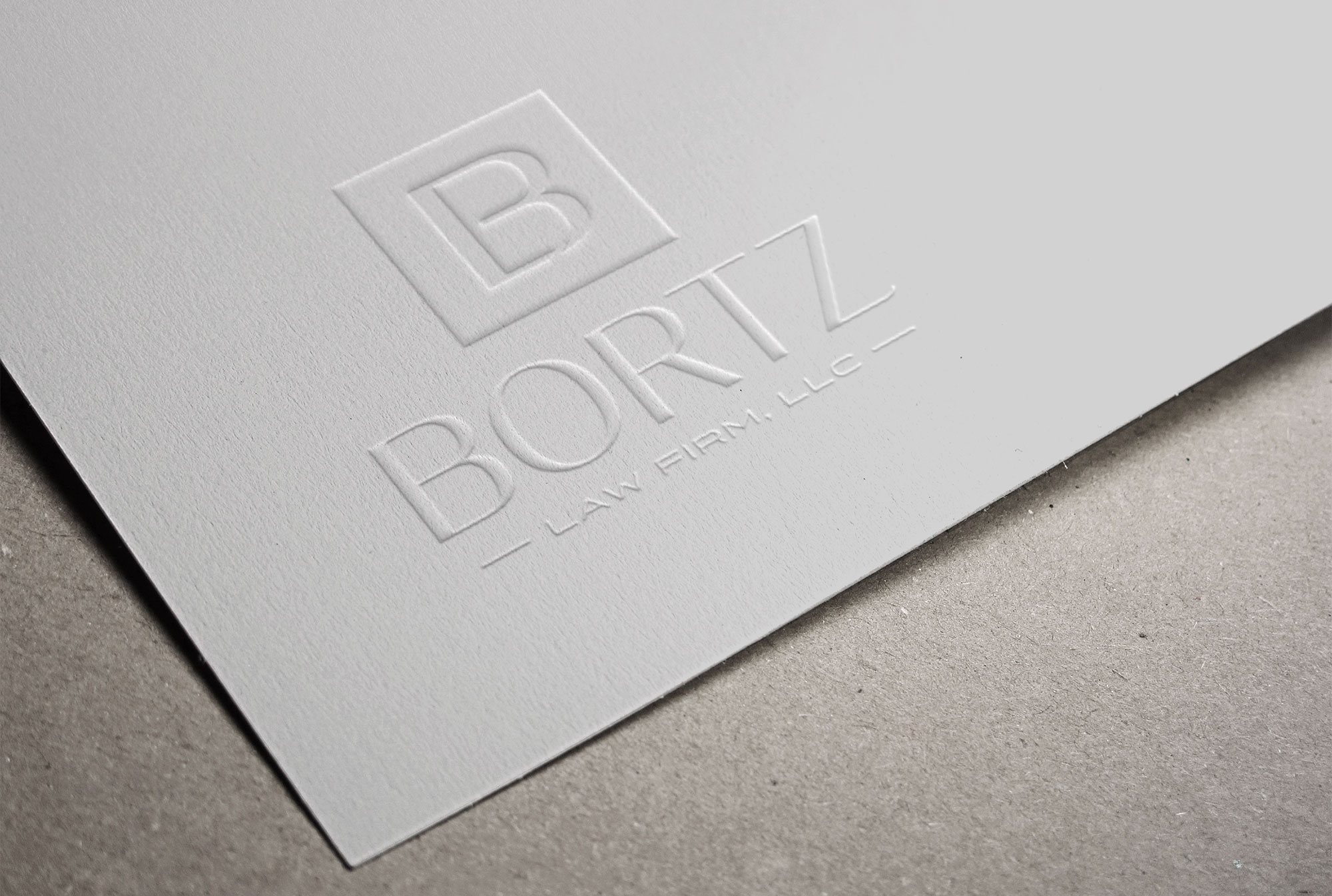 Bortz embossed logo design