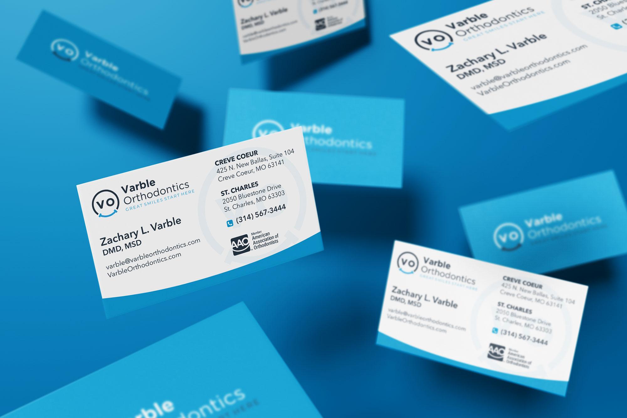 Varble business cards design