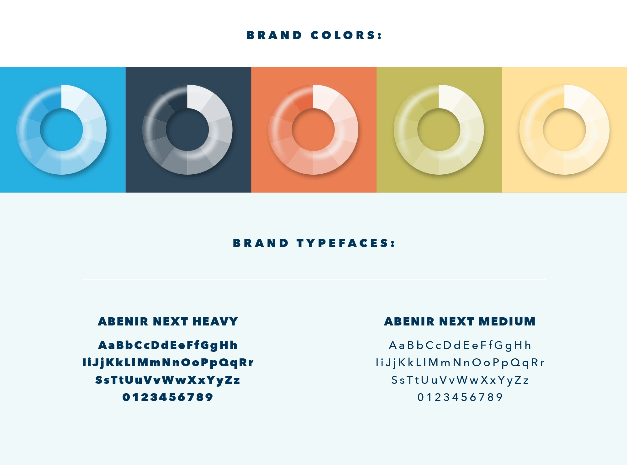 VO brand colors and fonts