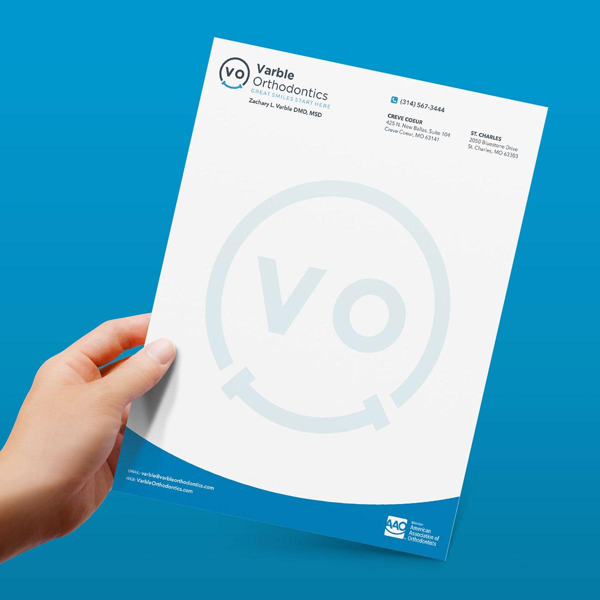 VO letterhead design