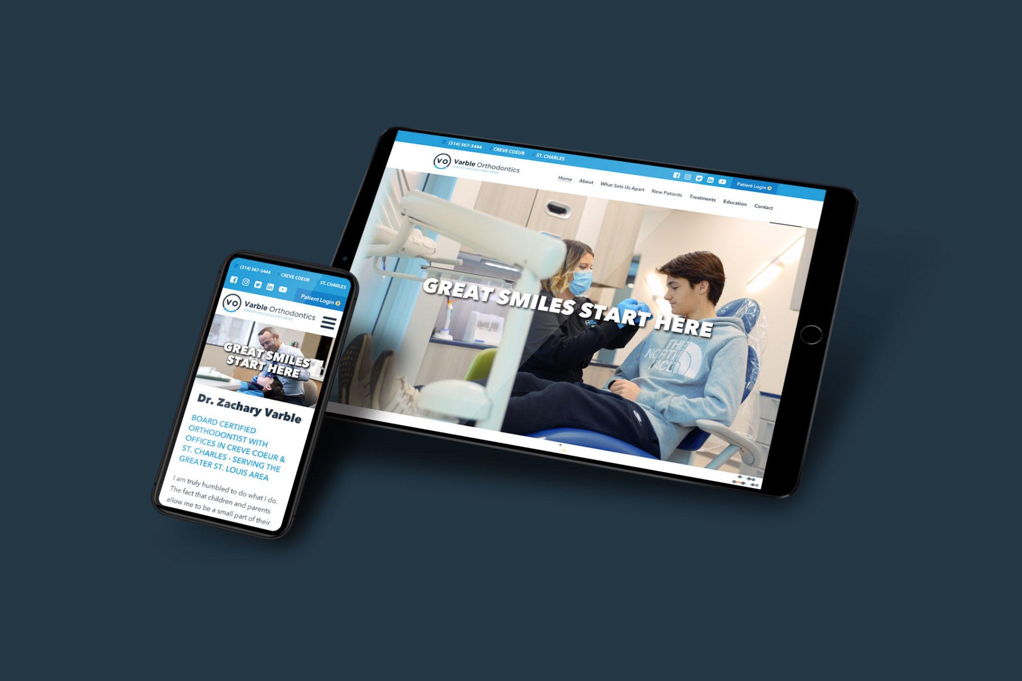 VO website design