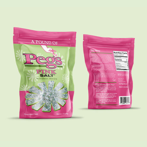 Peg's pouch packaging design