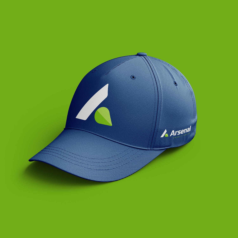 branded arsenal hat design