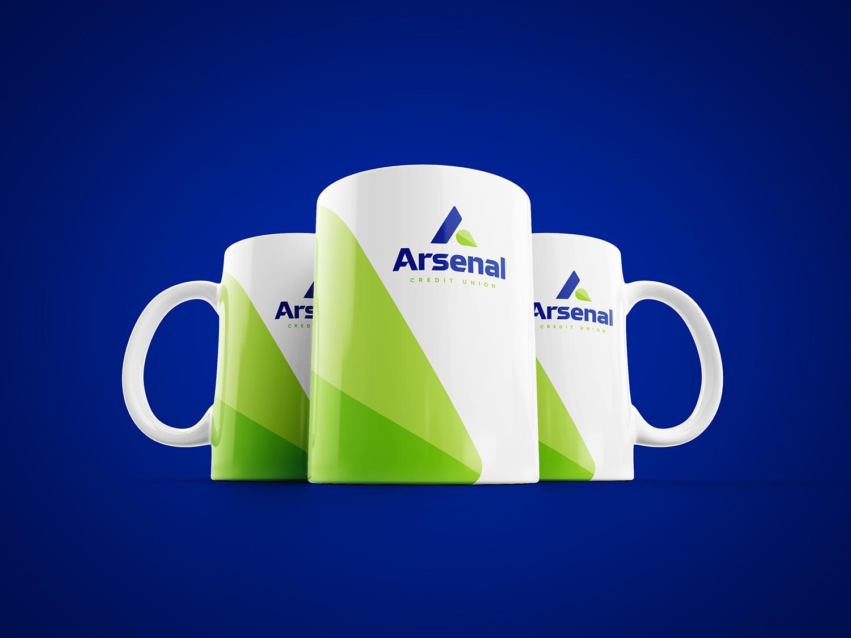 arsenal branded mug design