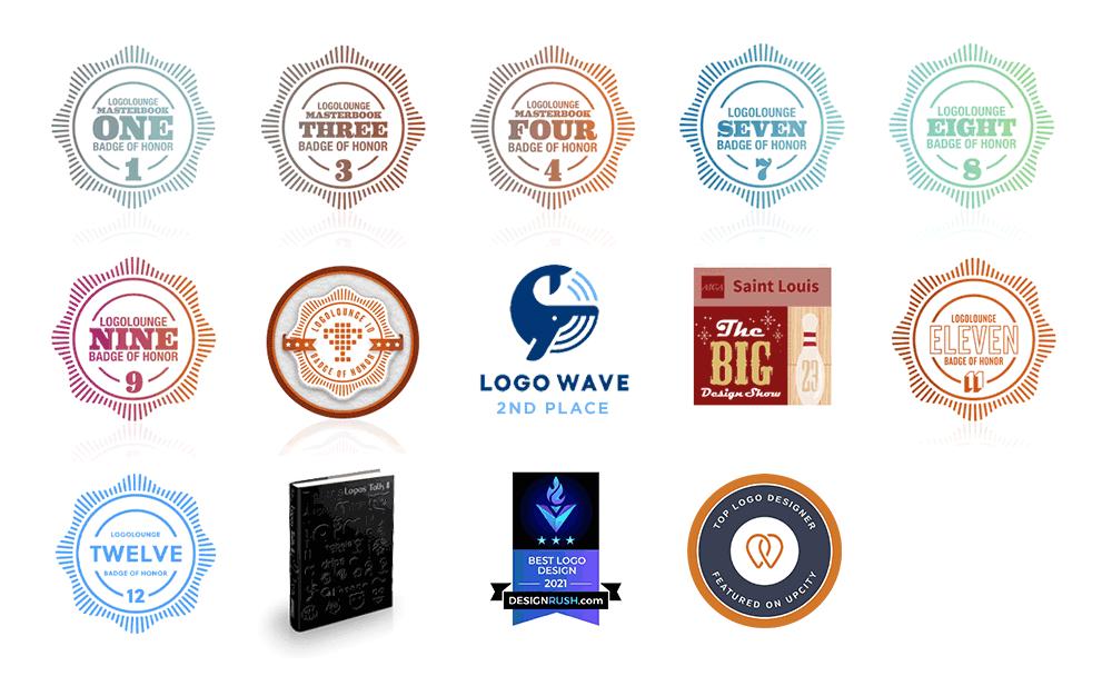 Visual Lure's logo design awards
