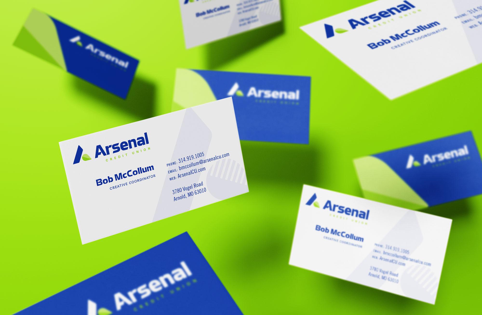 arsenal business card designs
