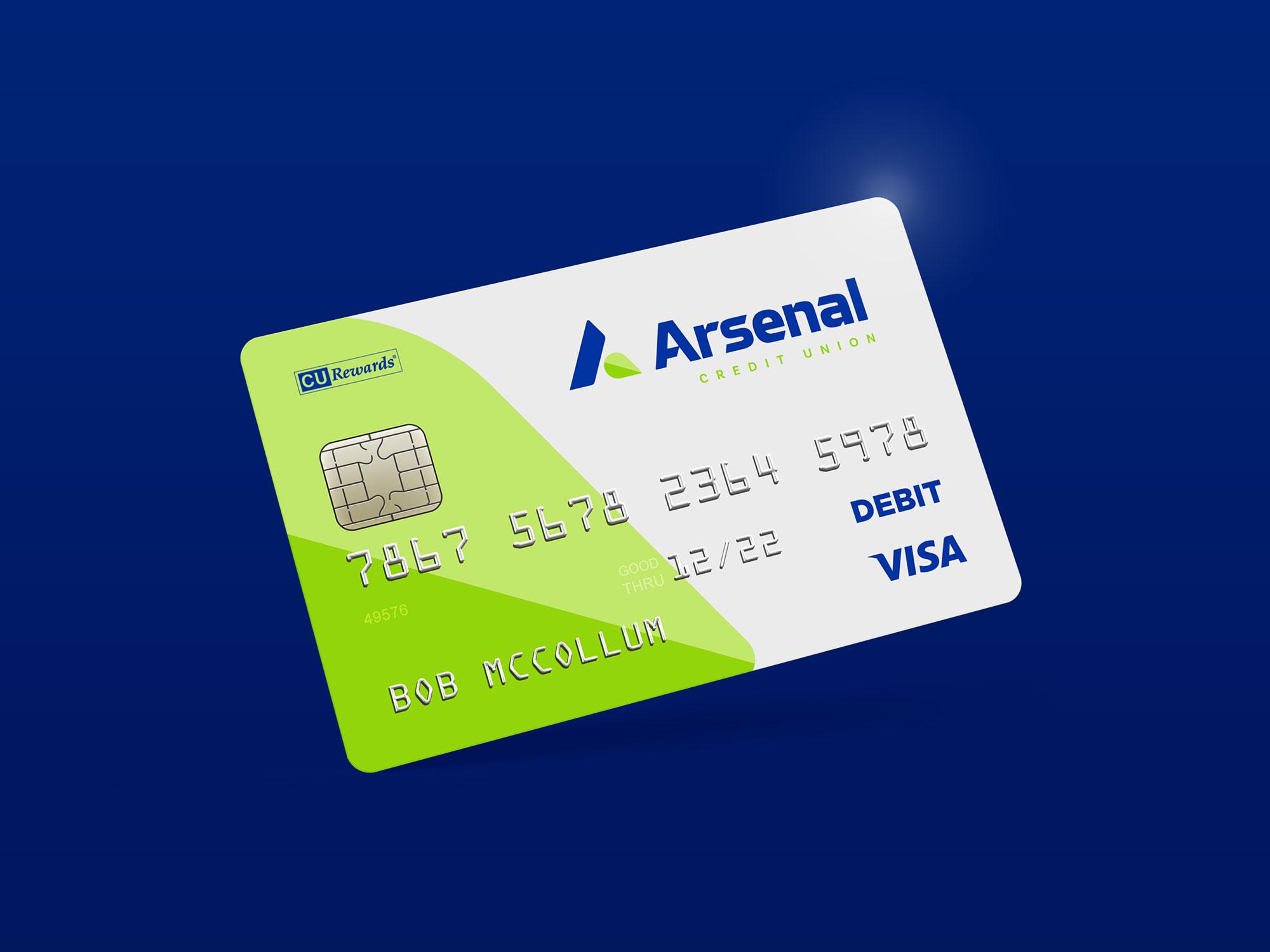 arsenal credit card design