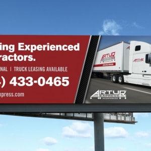 Artur Express billboard design for a St. Louis based logistics company.