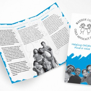 Child Advocacy Center Trifold Brochure Design