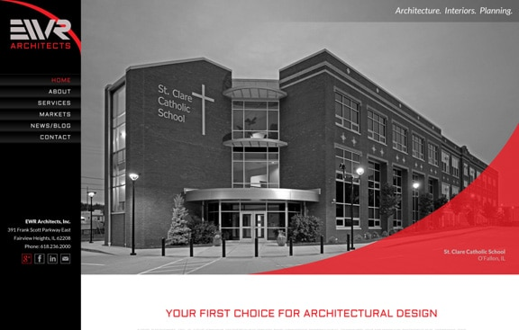 St. Louis Architects website homepage design