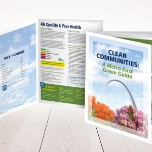Brochure design for a St. Louis Metro East clean air advocate