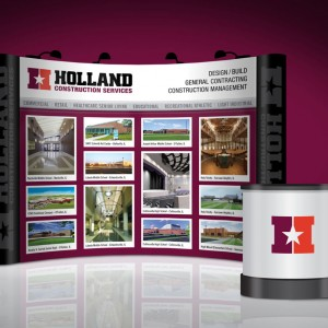 Trade show booth display design for a St. Louis Area Construction Co.