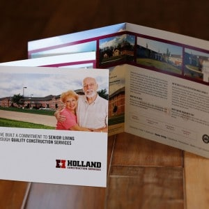 Brochure design for a St. Louis area construction co.