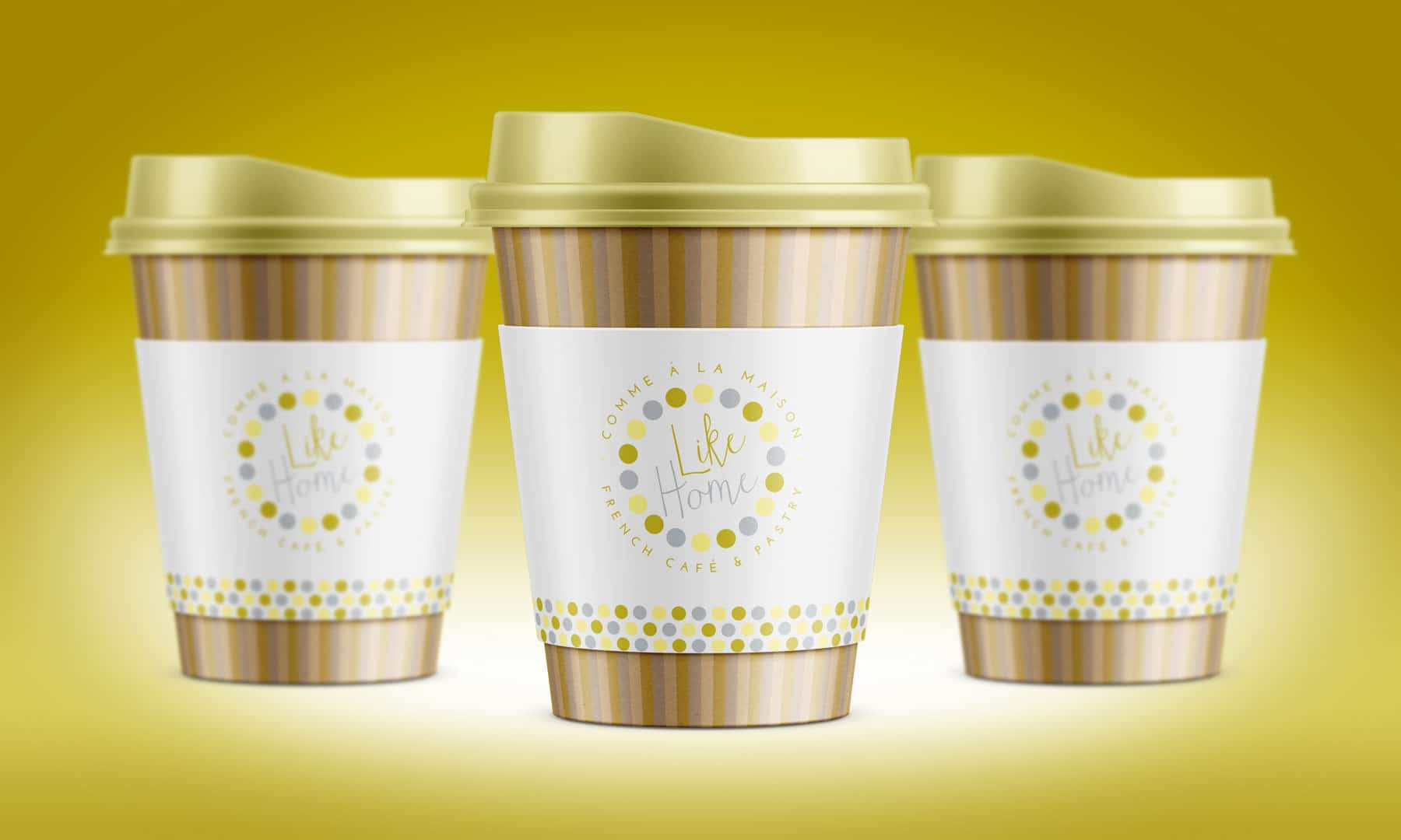 Like Home cup package design
