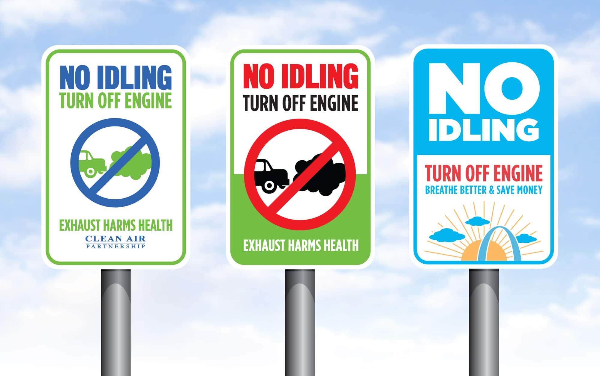 NoIdle-sign-graphic-design