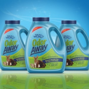 Packaging design for an odor eliminator for small animals