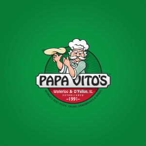 Non-commissioned logo design for a local pizza restaurant