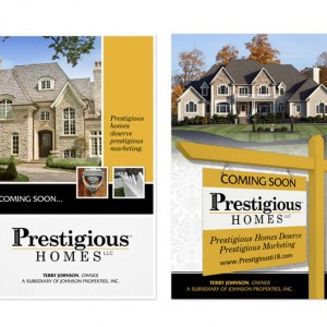 Prestigious Homes Real Estate Postcard Design Options