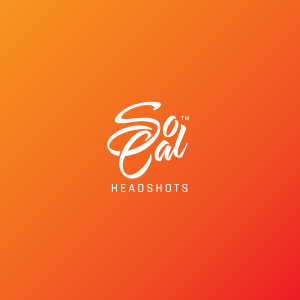 Vertical logo format for SoCal Headshots