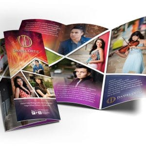 Daniel Ortiz Photography senior trifold brochure