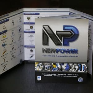 Neff Power graphic design brochure