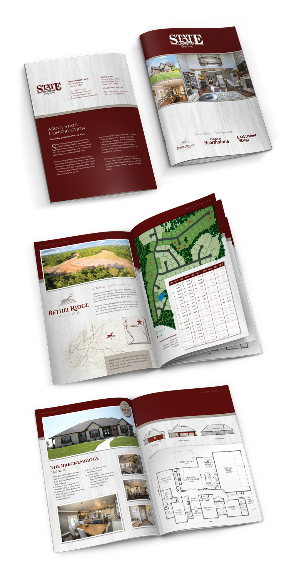 State Construction brochure graphic design